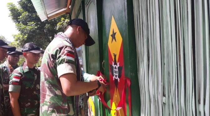 Warga Manamas di Perbatasan RI-RDTL Gapai Bedah Rumah Yonmek 741