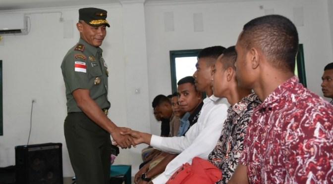 Motivasi Ala Danrem 161/WS Kepada Peserta Cata PK TNI AD Yang Gagal