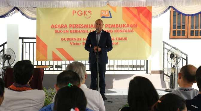 Gubernur Laiskodat Pinta BLK-LN Hasilkan Agen Perubahan Berkualitas