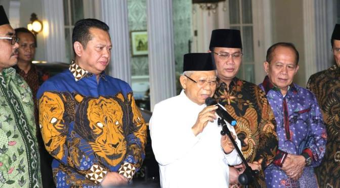 Temui KH Ma'ruf Amin, MPR RI Siap Helat Pelantikan Presiden & Wakil Presiden