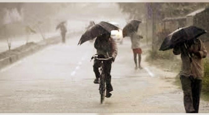 Hati-hati ! Hujan Deras, Angin Kencang dan Kilat Terjadi pada 5—12 Januari 2020