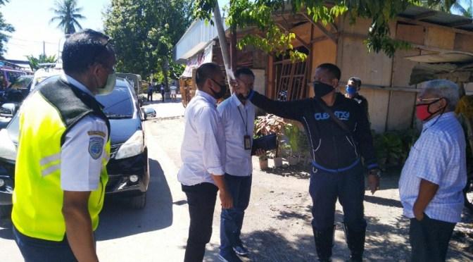 Pemkot Kupang Sidak Masker dan Ukur Suhu Tubuh Pengguna Angkutan Jalan