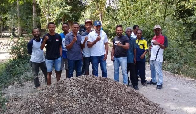 Puluhan Tahun Menanti, Akhirnya Jalan Dusun Halilulik A di Belu Dikerjakan