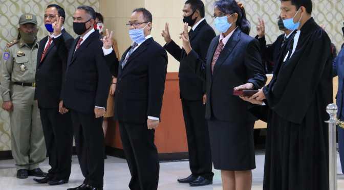 16 Pimpinan Tinggi Pratama Lingkup Pemprov NTT Dikukuhkan dan Dilantik