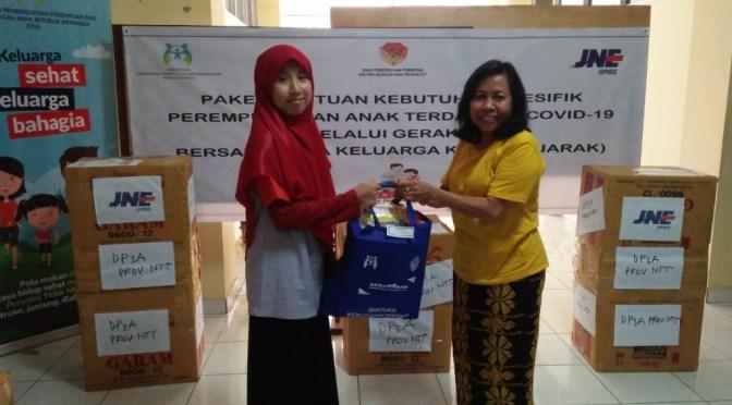 Bantuan Berjarak di NTT, DPPPA Gandeng JNE Kirim Gratis ke 10 Kabupaten