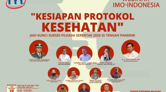 Pilkada 2020, IMO-Indonesia DPW NTT Helat Webinar Protokol Kesehatan