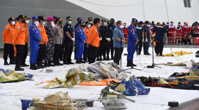 53 Properti dan 14 Potongan Tubuh Korban Sriwijaya Air SJ-182 Ditemukan