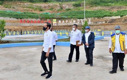 Resmikan Bendungan Napun Gete, Jokowi : Air Kunci Kemakmuran di NTT