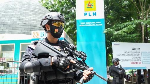 PLN Gandeng Brimob Helat Simulasi Tanggap Darurat Ancaman Teror