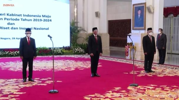 Presiden Lantik Dua Menteri & Satu Kepala Lembaga Masa Bakti 2019—2024