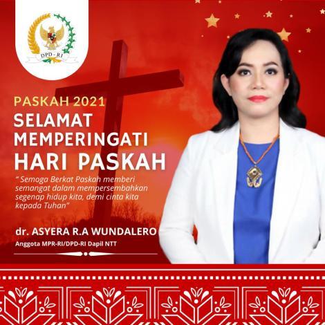 Selamat Paskah 2021 -- Senator Asyera Wundalero