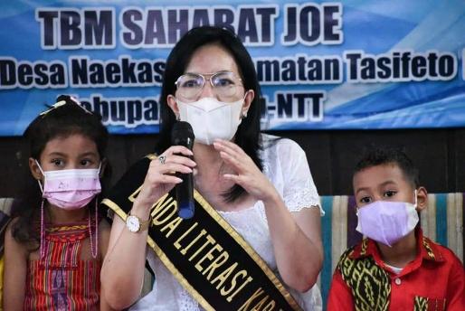 Nyonya Freny Indriani Jadi Bunda Literasi Kabupaten Belu