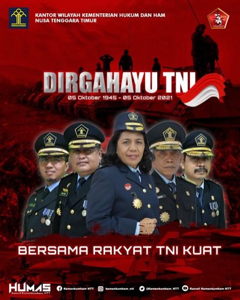 Dirgahayu Ke-76 TNI -- Kumham NTT