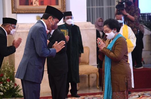 Presiden Jokowi Lantik Megawati Jadi Ketua Dewan Pengarah BRIN