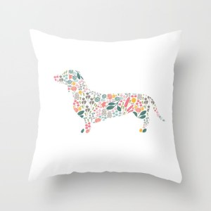 dachshund-floral-watercolor-art-pillows