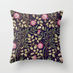william-morris-sweet-briar-floral-art-nouveau-pillows