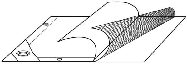 Tentas (10m x 15m) 260g.kv/m —  sustiprintas triju sluoksniu uzdangalas