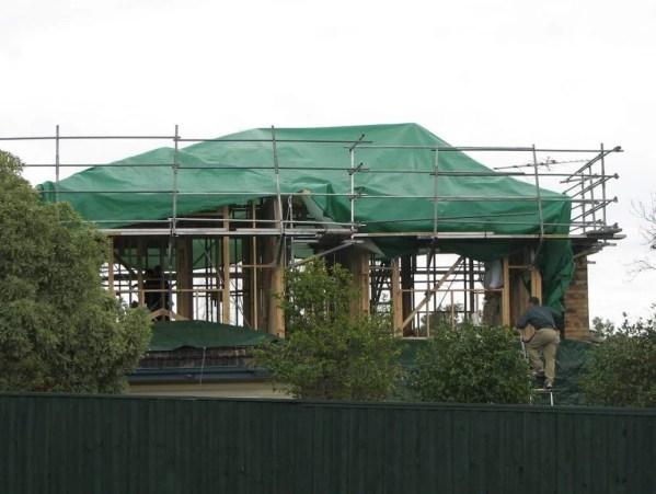 Tentas (4m x 6m) 90g.kv/m — uzdangalas stogui