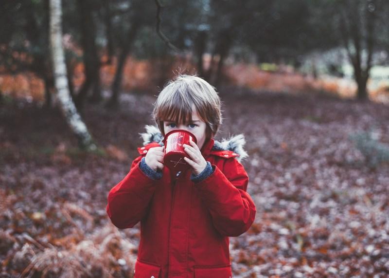 Child drinking catnip tea