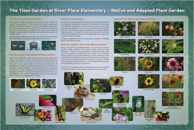 River Place Elementary (Austin, TX) interpretive sign
