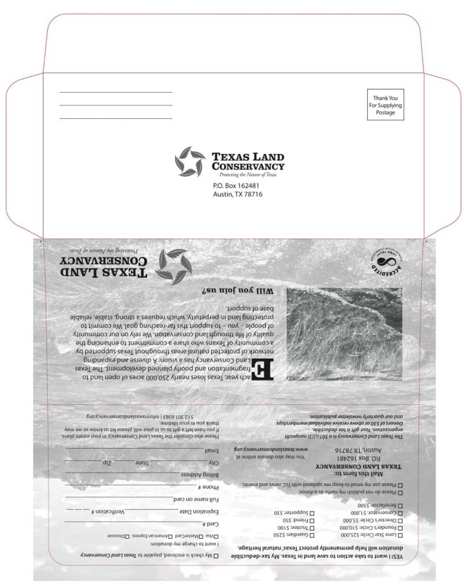 #9 bangtail envelope design... eventually mailed to 10,000 recipients