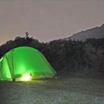 金曜発、土曜日帰りの一泊キャンプ 月明かりの下で