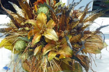 Dried Native Weeds and Flowers Gilted Gold