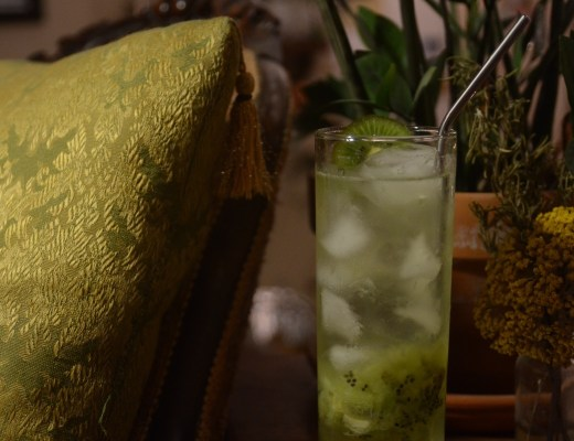 kiwi shrub drink mocktail