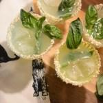 coconut basil gimlet gin cocktail