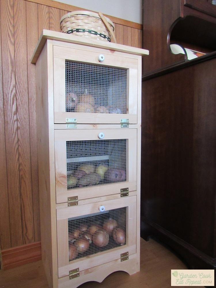 Homemade Potato and Onion Bin