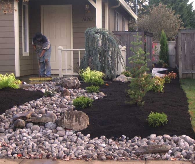 Landscaping Ideas For Small Front Yards Without Grass ... on Backyard Landscaping Ideas No Grass  id=71146