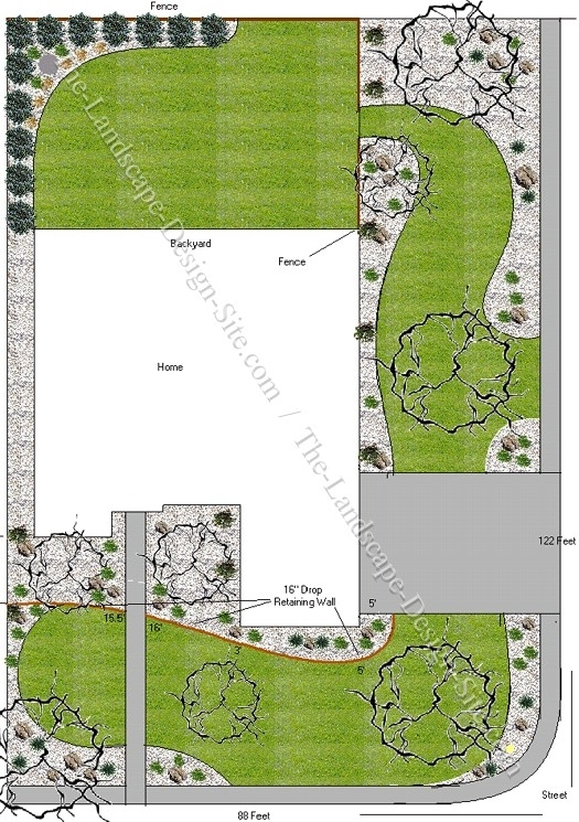 Corner Lot Front Yard Design in Landscaping Ideas Front Yard Corner Block