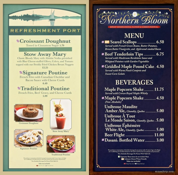 Menu Boards And Prices For 2018 Food Booths - Epcot Flower & Garden in Flower Garden Festival 2018 Menu