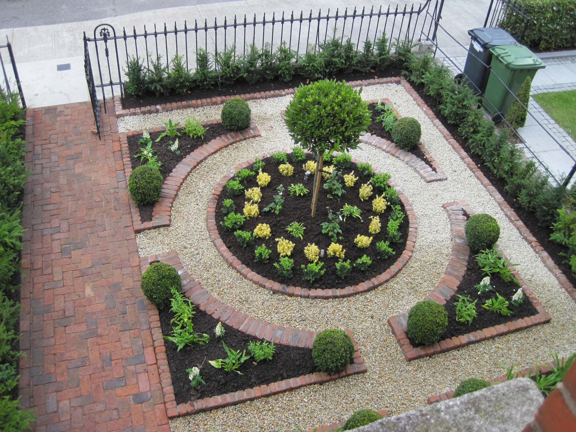 Formal Parterre for a Front Garden - Garden Design Dublin on Landscape Garden Designs For Small Gardens id=50555