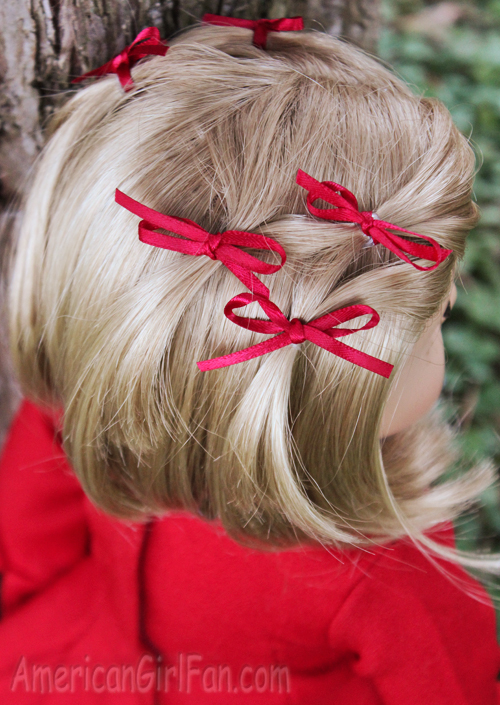 Doll Hairstyle Bitty Bow Ponytail Veil AmericanGirlFan