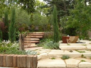 Dan Piper's garden featured lots of stone, but it was well-balanced by the planting