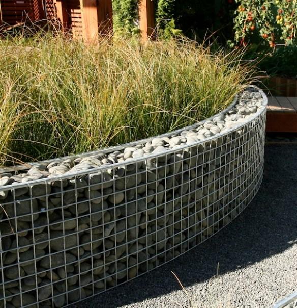 Design Carl Pickens Ellerslie NZ 2009 Gabions filled with graywacke pebbles