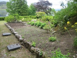 Kitchen garden looking south