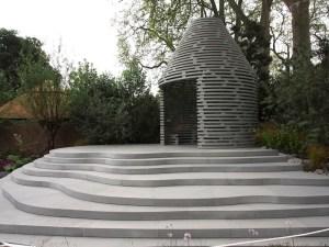 B&Q Sentebale garden curving steps