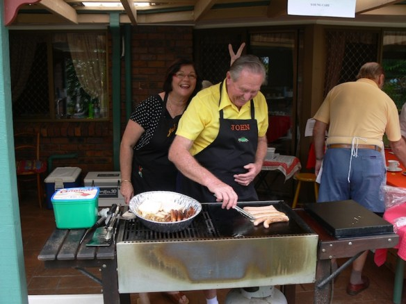 Who can resist a lunchtime sausage sizzle?