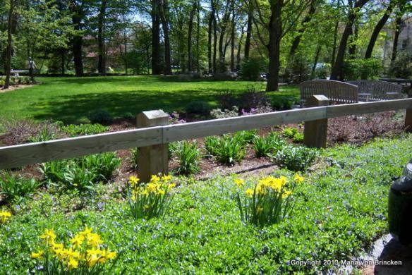 Carlisle Center Park in spring