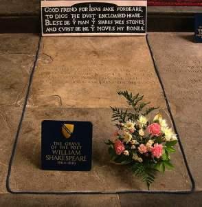 Shakespeare's grave in Stratford on Avon. Photo david_jones