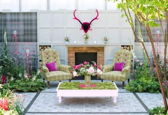 'Fabric' - Deakinlock garden in the Fresh Gardens at Chelsea Flower Show 2014