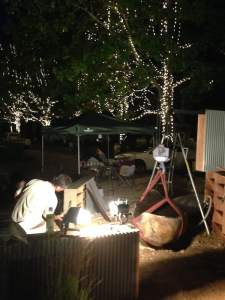 Working through the night again to have Show garden ready for Judging