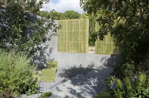 Bamboo screens. Design Paul Hervey-Brookes. Gardening World Cup 2014