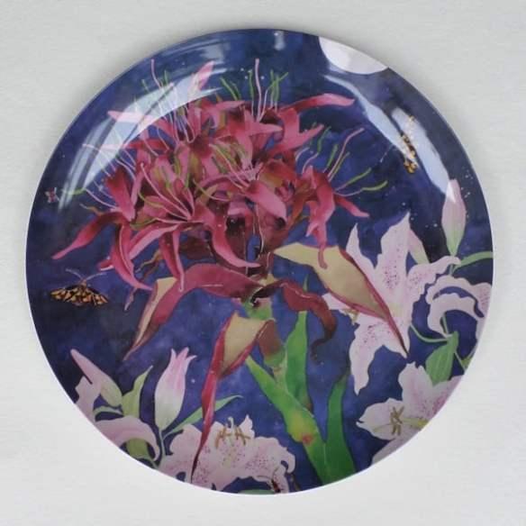 Melamine platter with Gymea lily. Gabby Malpas