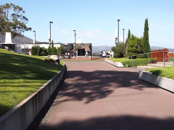 MONA - walkway and tennis court