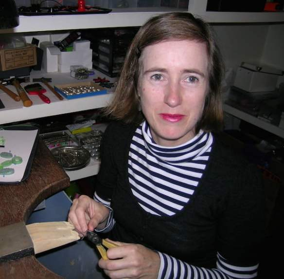 Vicki Mason at her jewellers bench