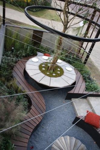 Suspended ring detail in The Tea Garden Design Ross Uebergang Japan World Flower and Garden Show 2015.