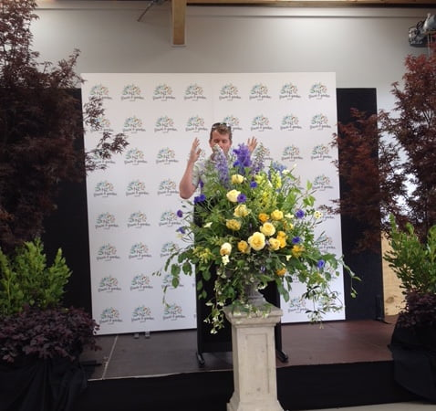 Leon Kluge at the launch of the New Zealand Flower and Garden Show